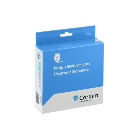 Zestaw cryptoCertum umożliwiający autoryzację przy współpracy z SI CEPiK - opakowanie